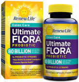 Ultimate Flora Critical Colon Bifido Max 80 Billion 30 Veggie Caps, Renew Life