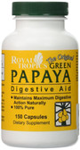 The Original Green Papaya Digestive Aid 150 Caps, Royal Tropics
