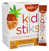 Ester-C 250 mg Kidstiks Powder Sticks Tropical Punch 30 pkts, Solgar