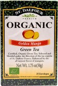 Organic Golden Mango Green Tea 25 Envelopes 1.75 oz (50 g), St. Dalfour