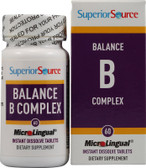MicroLingual Balance B Complex 60 Tabs, Superior Source