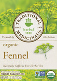 Organic Fennel Tea 16 Wrapped Tea Bags Traditional Medicinals