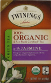 100% Organic Green Tea with Jasmine 20 Tea Bags 1.41 oz (40 g), Twinings
