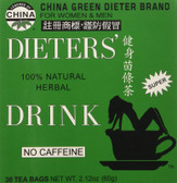Legends of China Dieter's Natural No Caffeine 30 Tea Bags Uncle Lee's Teas