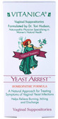 Yeast Arrest Vaginal Support 14 Vaginal Suppositories, Vitanica