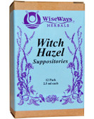 Witch Hazel Suppositories 12 Pack 2.5 ml Each WiseWays Herbals