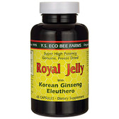 Royal Jelly with Korean Ginseng Eleuthero 65 Caps, Y.S. Eco Bee Farms