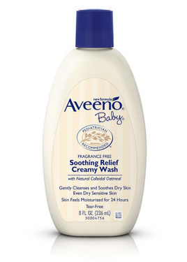 Baby Soothing Relief Creamy Wash Fragrance Free 8 oz Aveeno