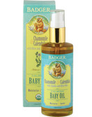 Calming Baby Oil Chamomile & Calendula 4 oz (118 ml), Badger Company