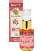 Antioxidant Face Oil Damascus Rose with Lavender & Chamomile 1 oz (29.5 ml), Badger Company