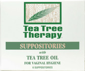 Tea Tree Therapy 6 Suppositories, for Vaginal Hygiene