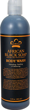 African Black Soap Body Wash 13 oz Nubian Heritage, Oily Skin