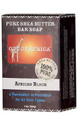 Pure Shea Butter Bar Soap African Black 4 oz (113 g), Out of Africa