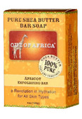 Pure Shea Butter Bar Soap Apricot Exfoliating Bar 4 oz (120 g), Out of Africa