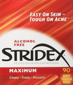 Single-Step Acne Control Maximum No Alcohol 90 Soft Pads Stridex