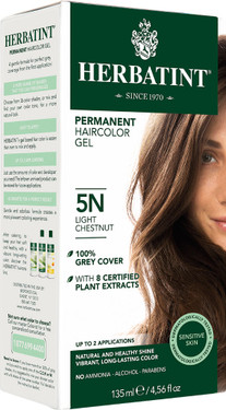 Herbatint Permanent Light Chestnut 5N, Natural Hair Color