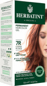 Herbatint Permanent Copper Blonde 7R, Natural Hair Color Gel