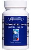 Nattokinase NSK-SD 2000 FU 100 mg 180 sGels, Allergy Research Group