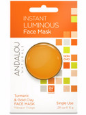 Instant Luminous Turmeric & Gold Clay Face Mask .28 oz Andalou