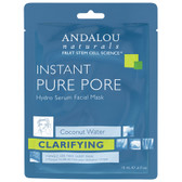 Instant Pure Pore Hydro Serum Facial Mask .6 oz, Andalou Naturals