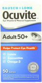 Adult 50 + Eye Vitamin & Mineral Supplement 50 Soft Gels, Bausch & Lomb Ocuvite