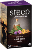Steep Organic Earl Grey Black Tea 20 Tea Bags 1.28 oz (36 g), Bigelow
