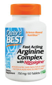 Fast Acting Arginine Complex with Nitrosigine 750 mg 60 Tabs, Doctor's Best