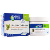 Tea Tree Oil Balm with Shea Butter and Vitamin E 2.5 oz (71 g), Earth's Care