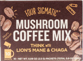 Mushroom Coffee with Lion's Mane 10 Powder Bags, Four Sigma Foods