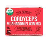 Cordyceps Superfood Mushroom Drink Mix w/Panax Ginseng 20 Pkts, Four Sigma Foods