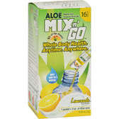 Aloe Mix n' Go Powdered Drink Mix Lemonade 16 Packs, Lily of the Desert