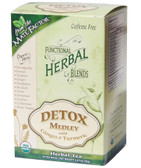 Organic Herbal Blends Detox Medley w/ Ginger & Turmeric 20 Tea Bags, Mate Factor