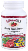 GrapeSeedRich Grape Seed Extract 100 mg 120 VCaps, Natural Factors