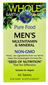 Whole Earth & Sea Men's Multivitamin & Mineral 60 Tabs, Natural Factors