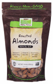 Real Food Roasted Almonds with Sea Salt 16 oz (454 g), Now Foods