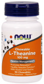 L-Theanine 100 mg 90 Chews, Now Foods