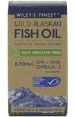 Wild Alaskan Fish Oil Easy Swallow Minis 450 mg 60 sGels, Wiley's Finest