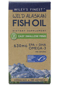 Wild Alaskan Fish Oil Easy Swallow Minis 450 mg 180 sGels, Wiley's Finest