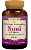 Noni 4:1 Extract 620 mg 100 Caps, Only Natural Antioxidant
