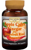 Apple Cider Vinegar Plus Grapefruit Rind Cayenne 90 Caps, Only Natural