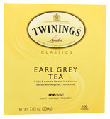 Classics Black Tea Earl Grey 100 Tea Bags, Twinings