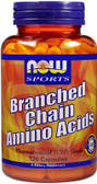 Branch Chain Amino 120 Caps, Now Foods