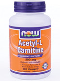 Acetyl L-Carnitine 500 mg 100 Caps Now Foods, Brain Health