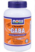 Gaba 250 mg 90 Chewable Tabs, Now Foods, Relaxation