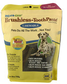 Breath-Less Brushless-ToothPaste Chewable for Large Dogs 18 oz, Ark Naturals