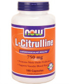 Citrulline 750 mg 180 Caps, Now Foods, Cardiovascular