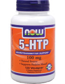 5-HTP 100 mg 120 vCaps, Now Foods, Positive Mood