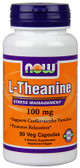 Theanine 100 mg 90 vCaps, Now Foods, Stress, Relaxation