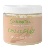 Herbal Therapy Salt Scrub Cedar Sage 20 oz, Soothing Touch
