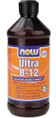 Ultra B-12 Liquid w Folic Acid 16 oz Now Foods, Energy
